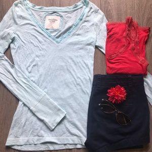 Xs light aqua Abercrombie & Fitch t-shirt